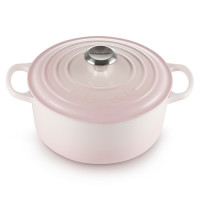 Le Creuset Bräter rund Signature 20cm Shell Pink